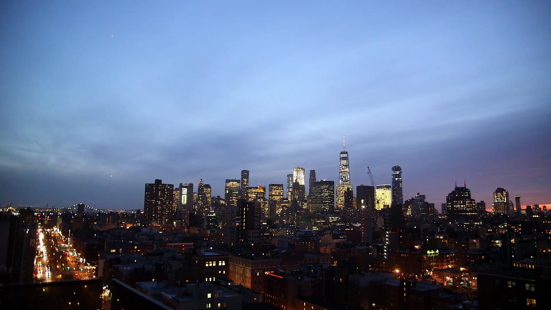 Silhouette Of Cityscape