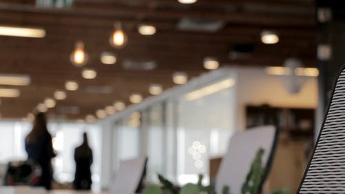 Blurry Footage Of People Inside A Office