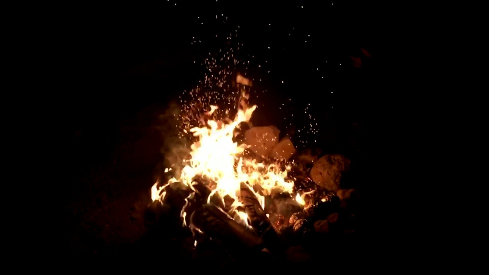 Slow Motion Video Of Bonfire