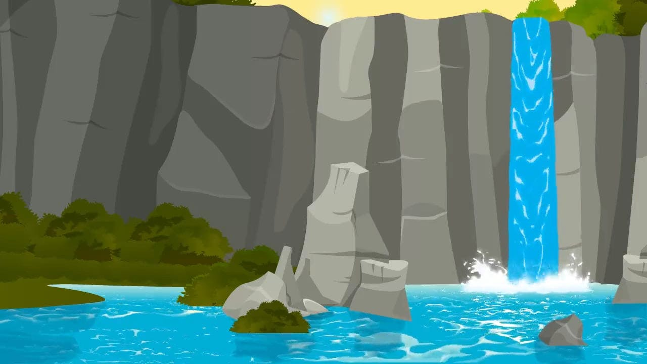 Animation Of Waterfalls