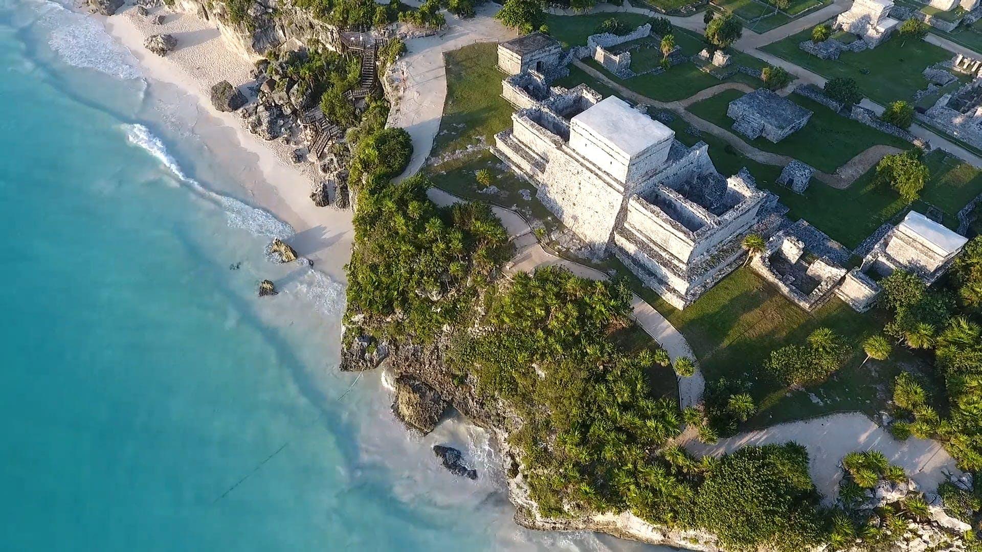 Aerial Shot Of Sea Coast