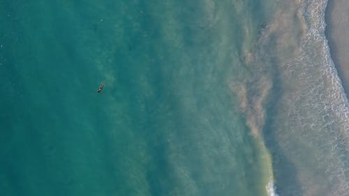 Aerial Shot Of Woman Floating