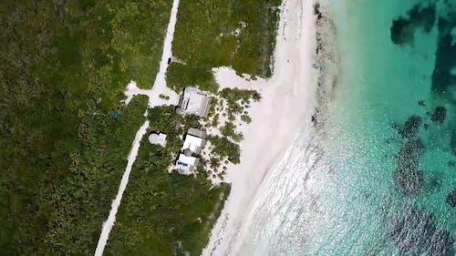 Aerial Shot Of An Island