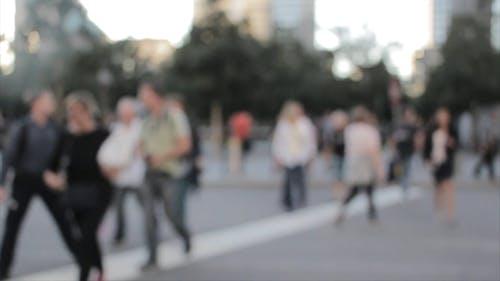 Blurry Footage Of People Walking