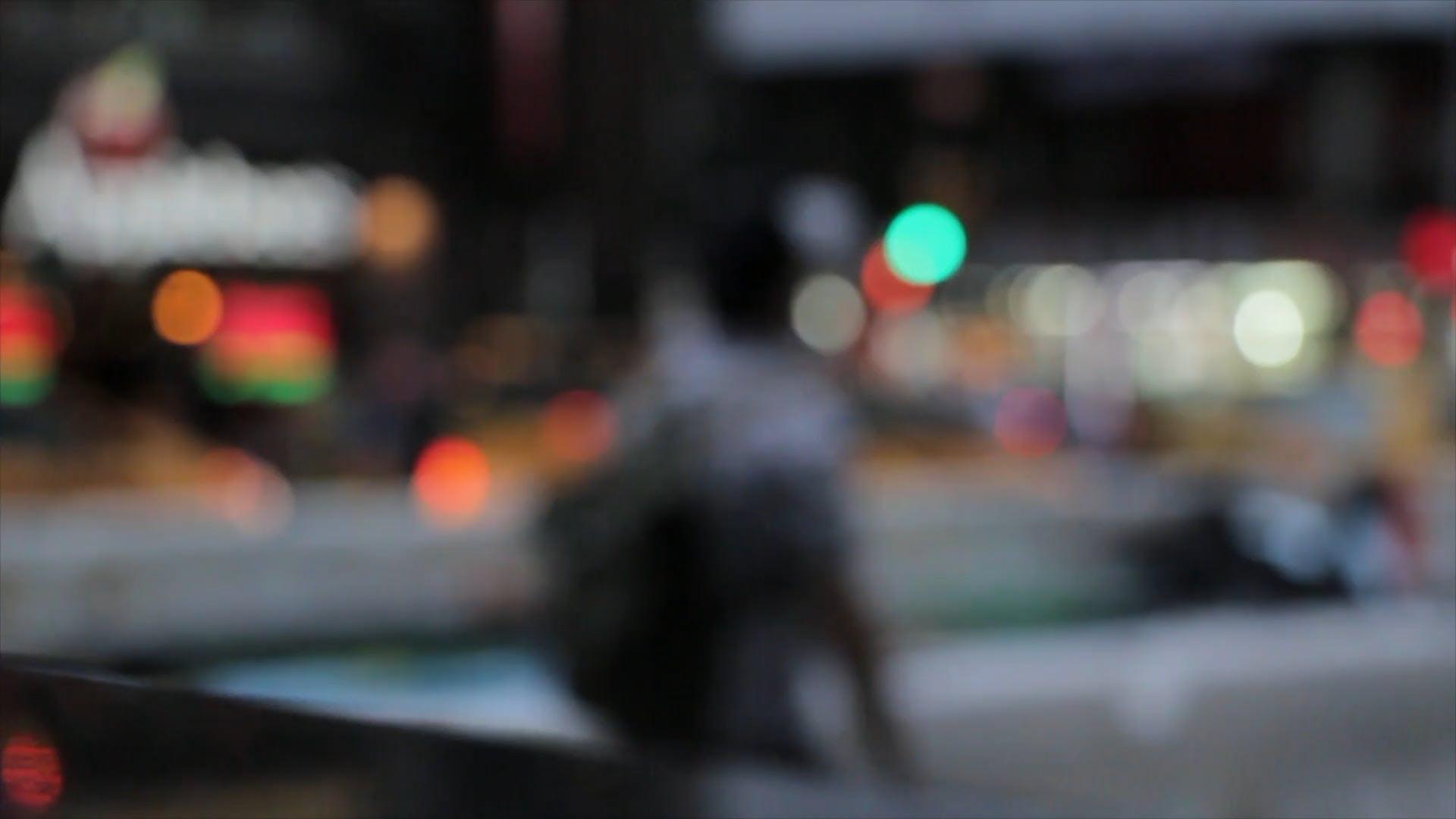 Blurry Video Of People Walking