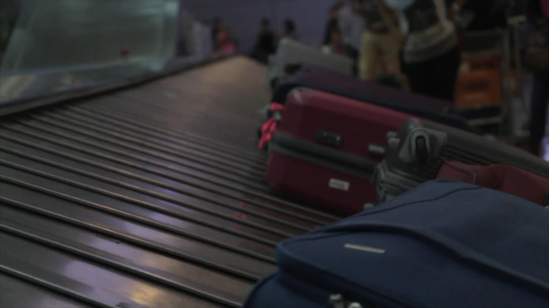 Luggage At The Conveyor Belt