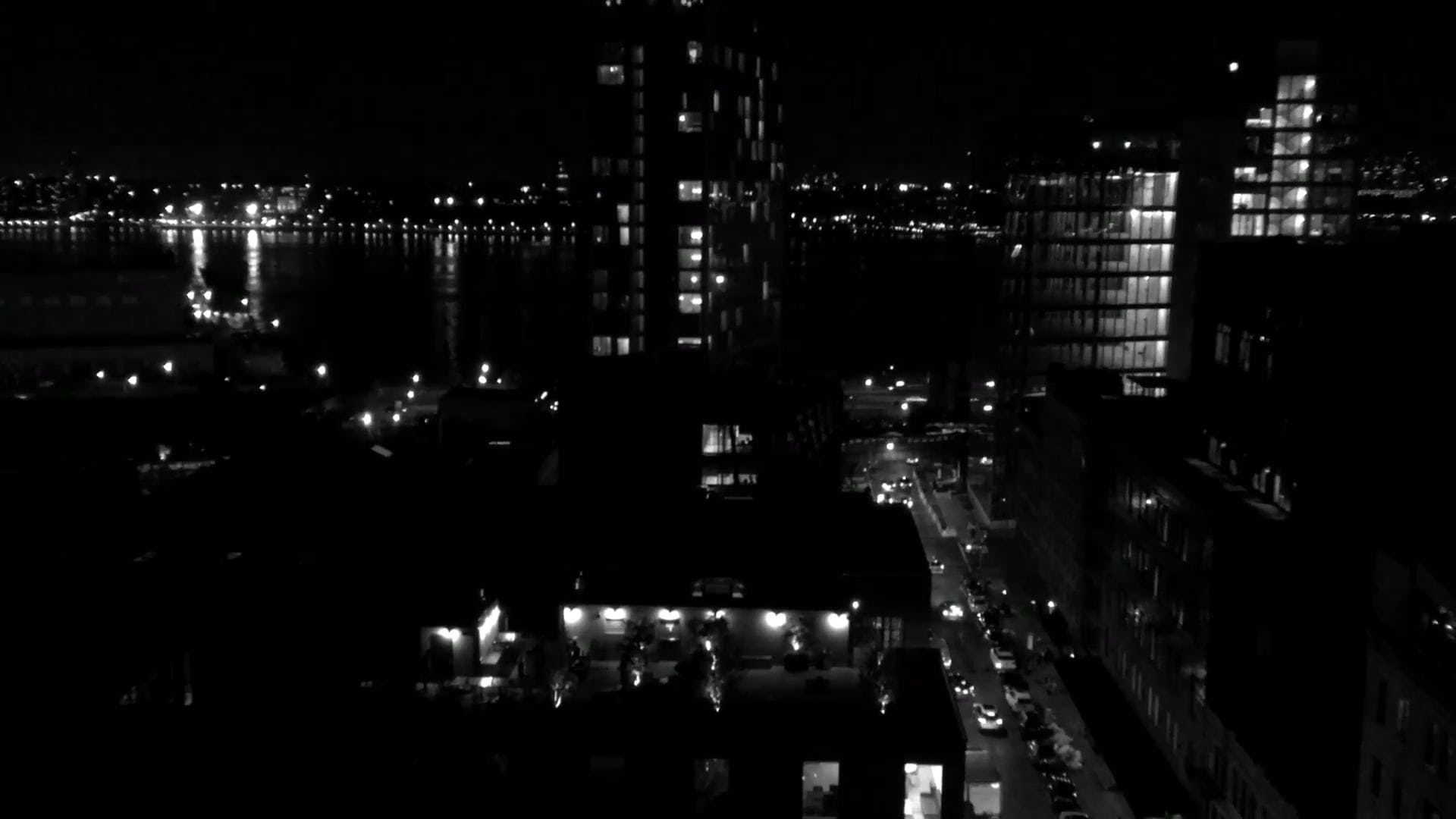 Black And White View Of A City