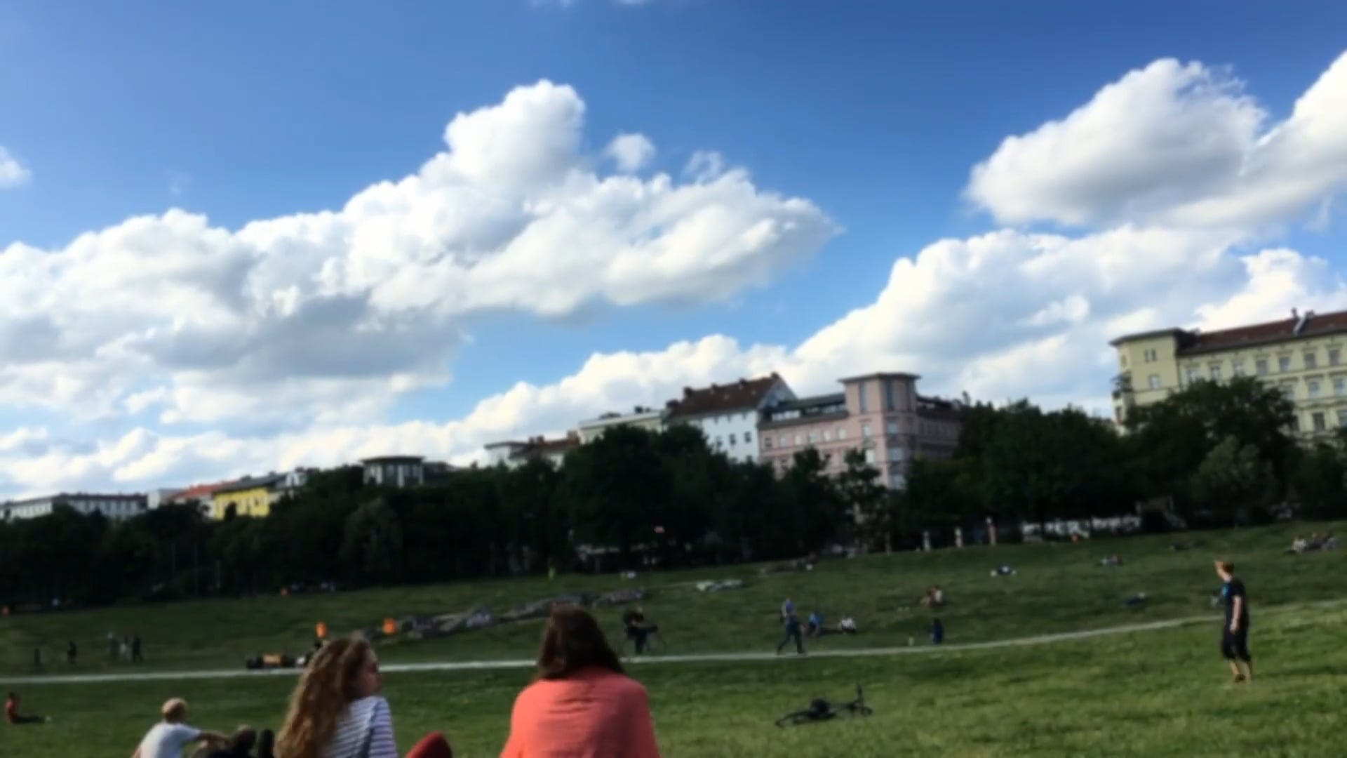 Time Lapse Video Of People Relaxing In The Field