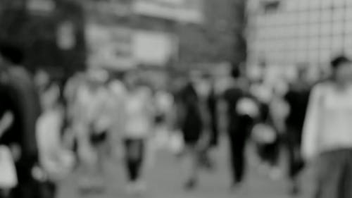 Black And White Video Of A Busy Street