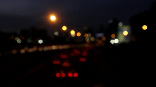 Blurred Video Of Cars At Night