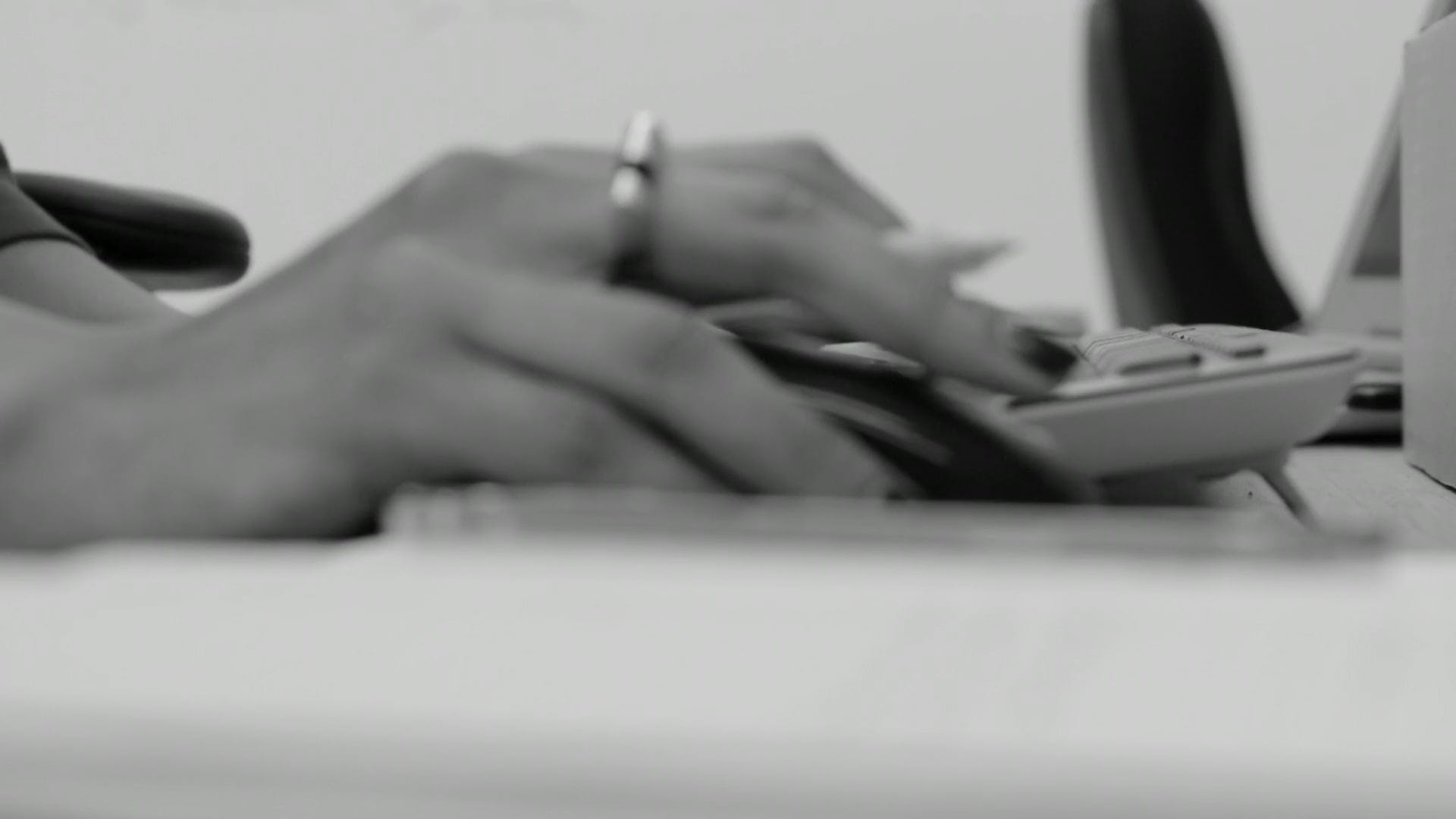 Black And White Video Of Person Working