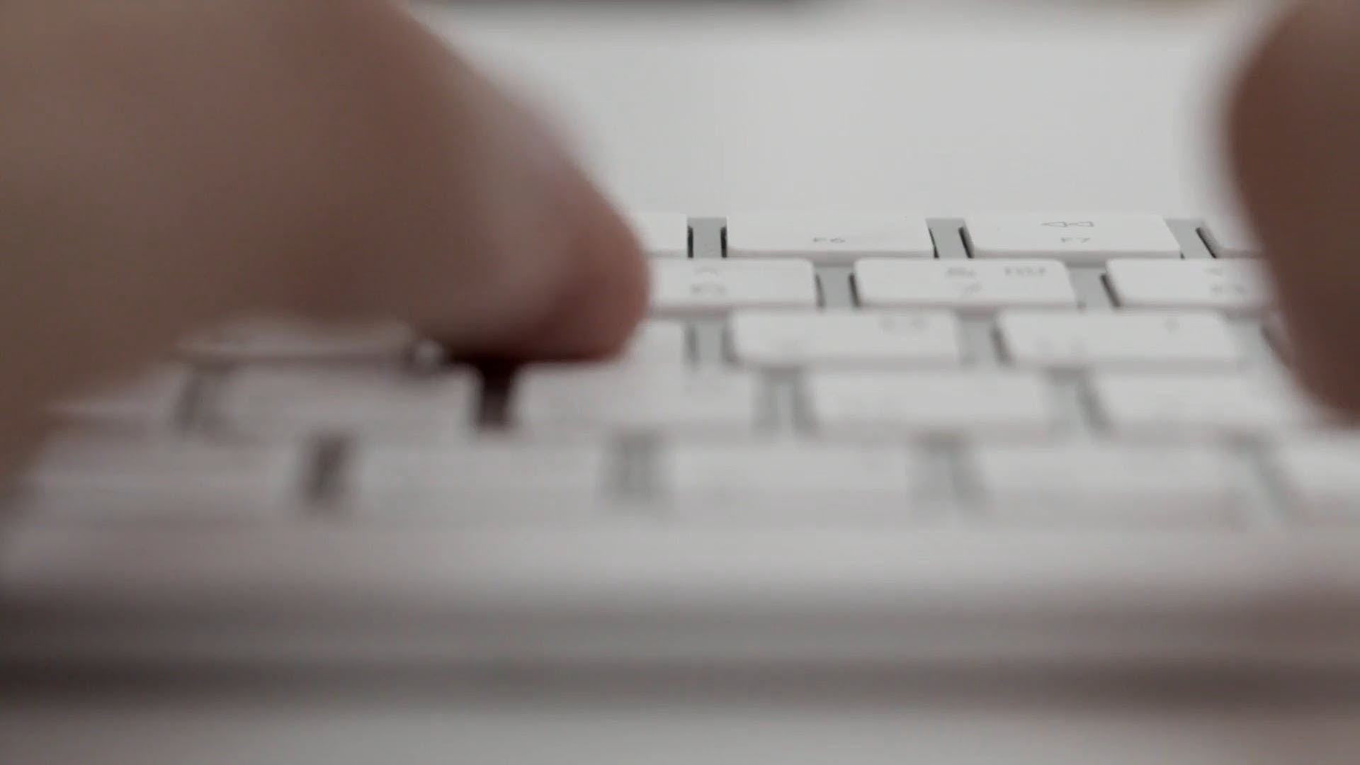 Close Up Video Of A Person Typing On Keyboard