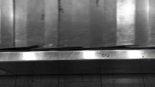 Black And White Video Of Conveyor Machine