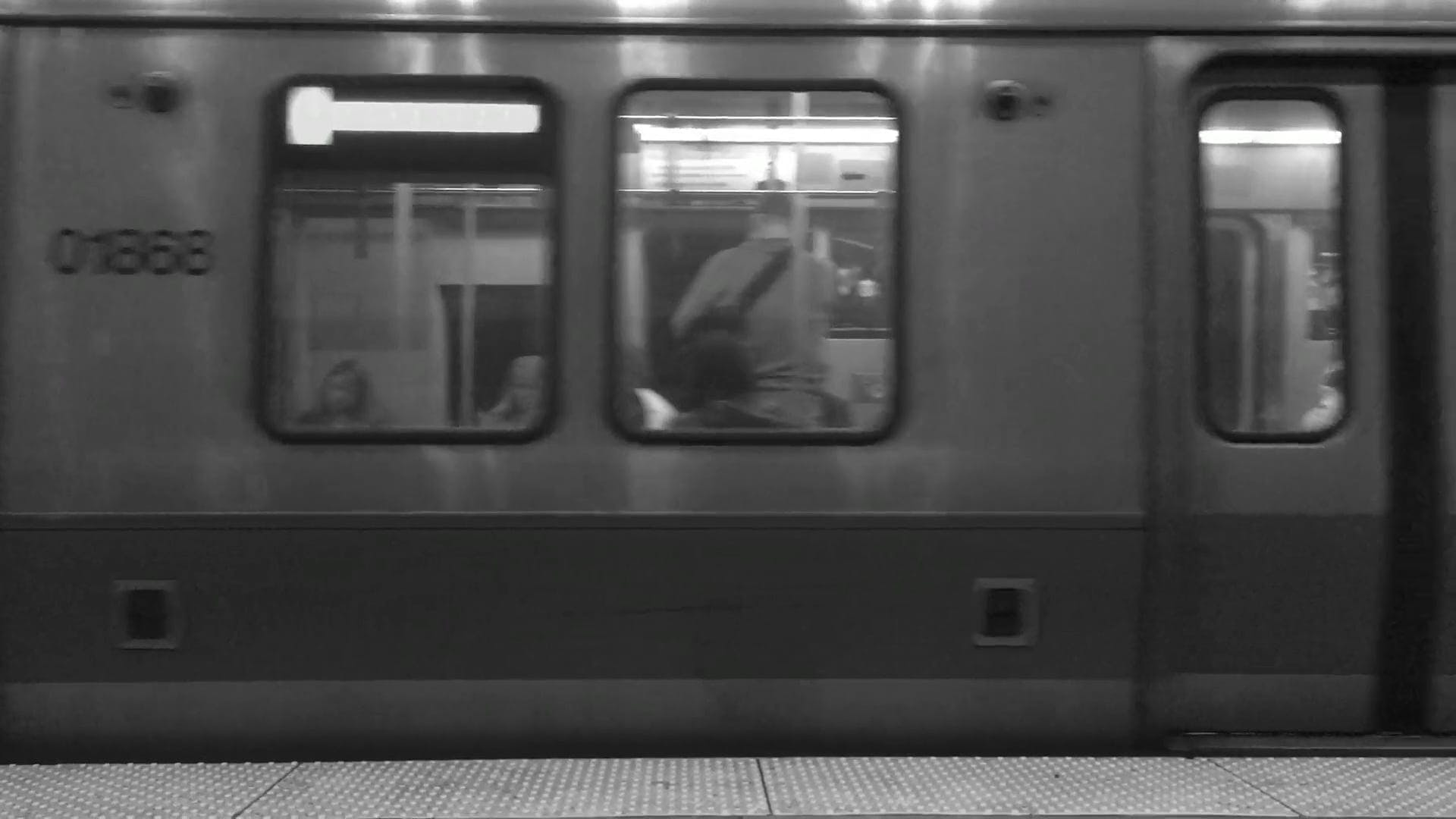 Black And White Video Of Moving Train