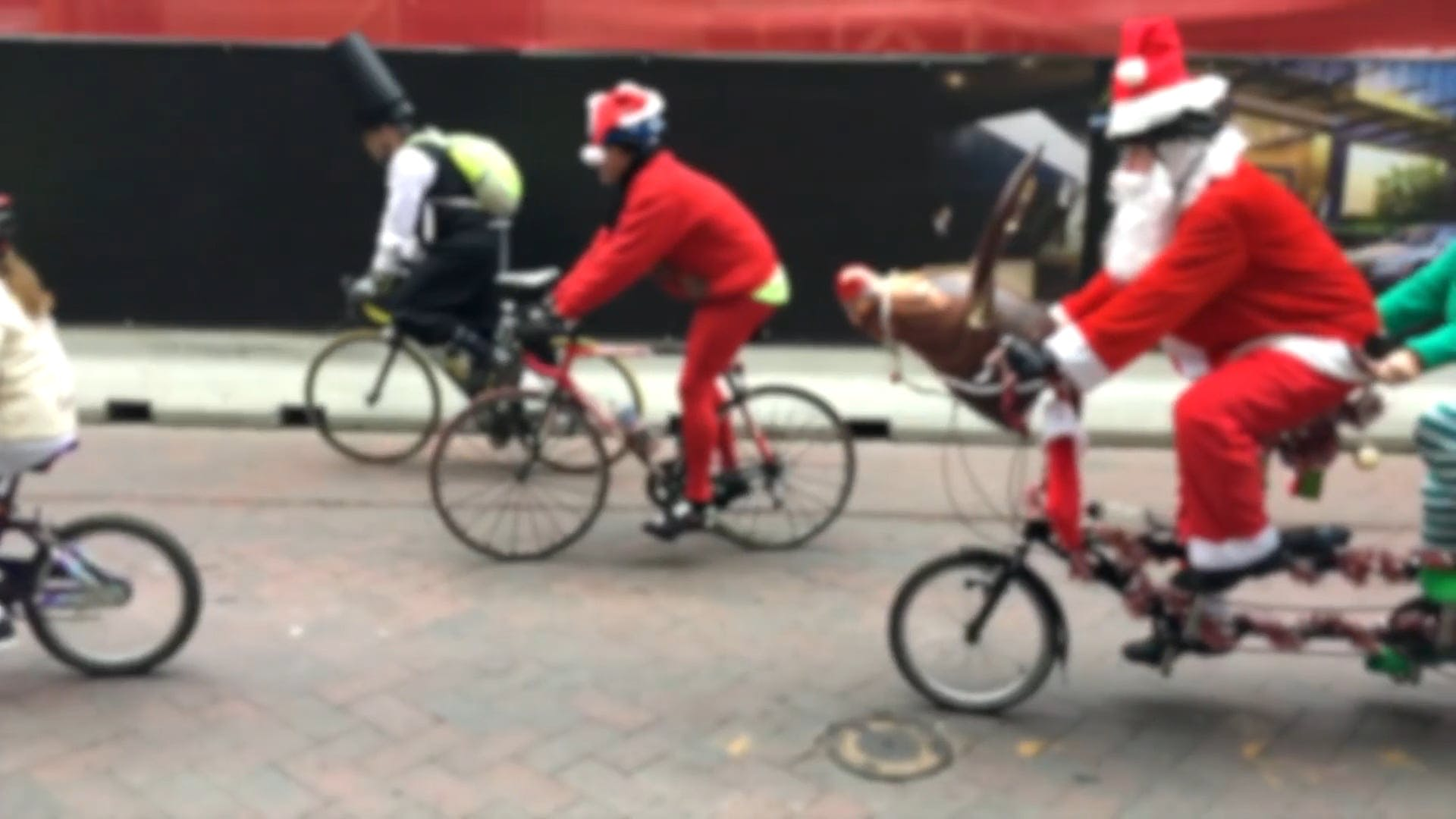 People Wearing Santa Claus Costume