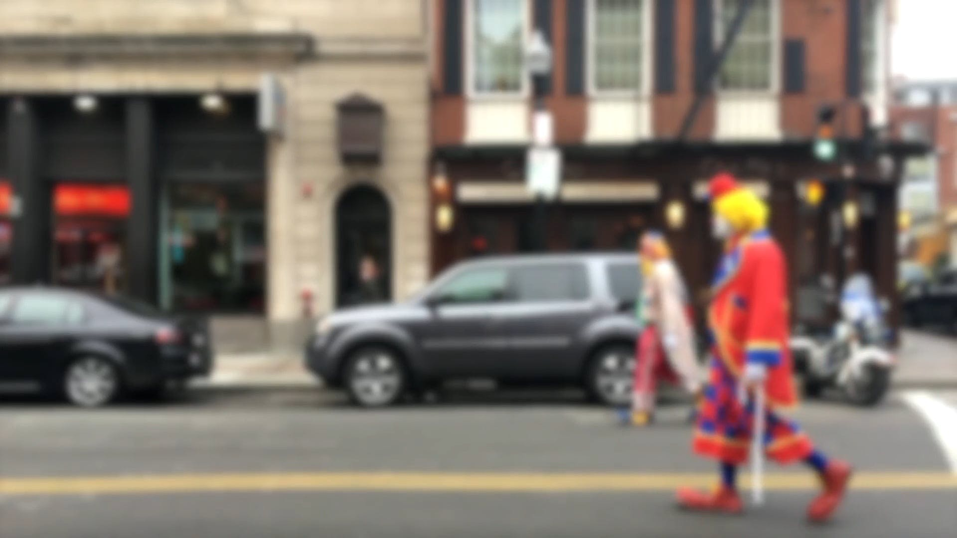 Clowns Walking