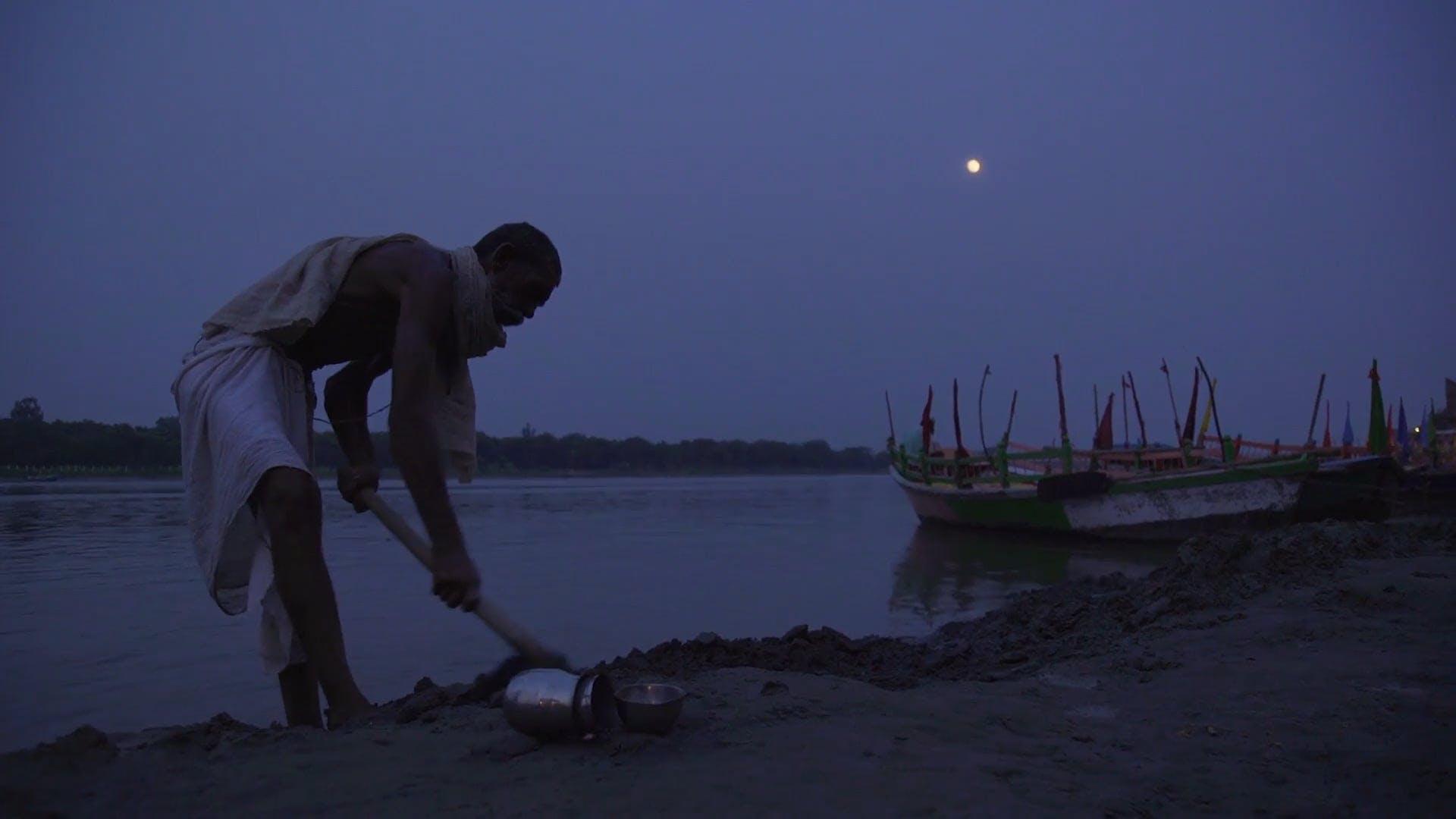 Man Working During Dawn