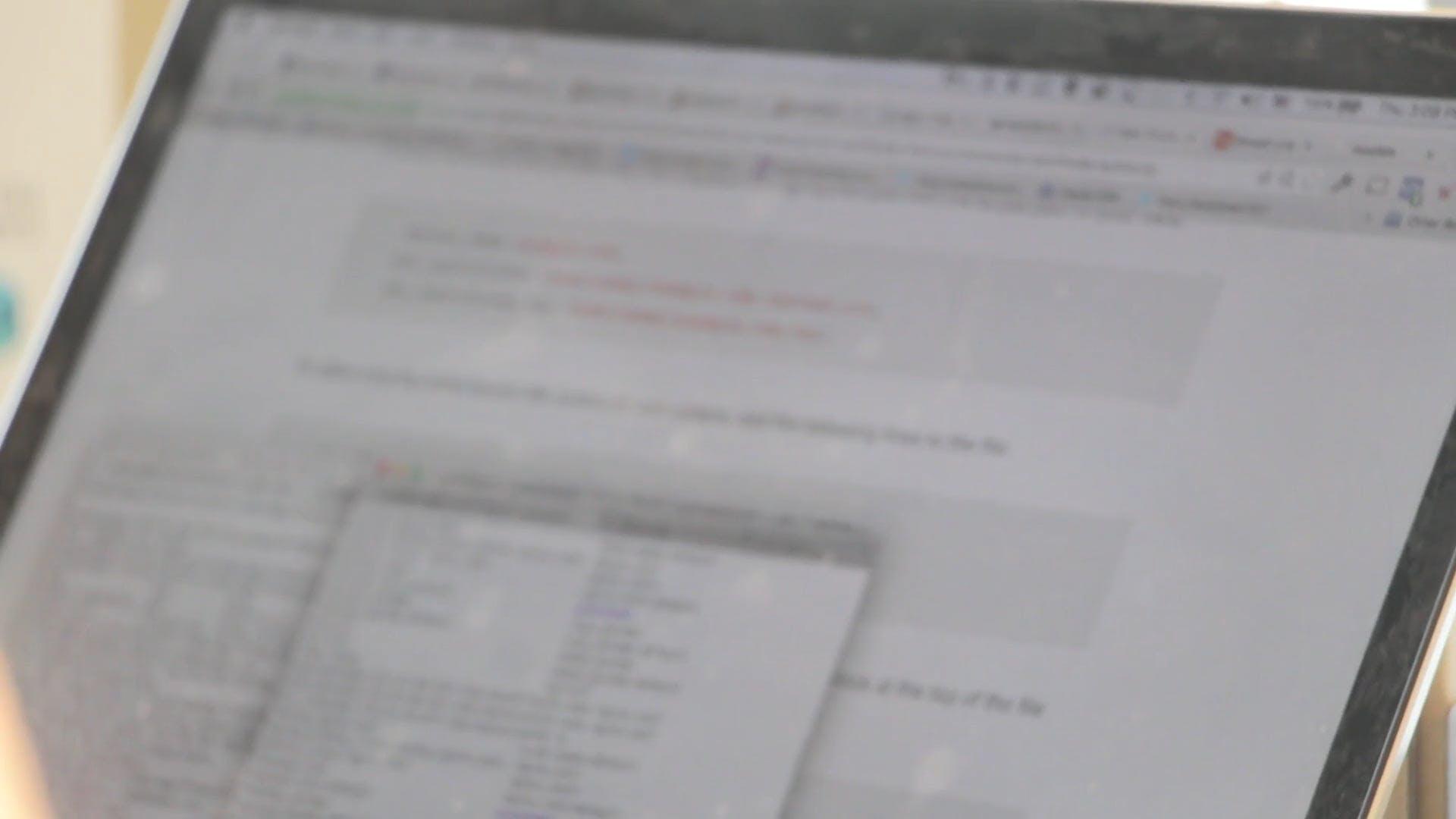 Blurry Video Of Laptop Screen