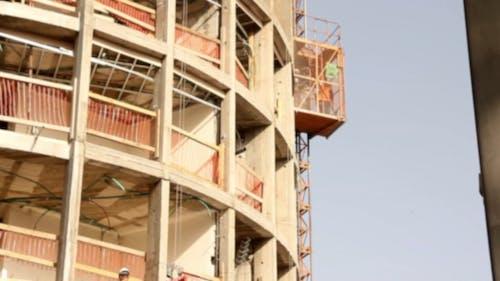Construction Hoist Going Down