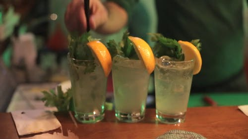 Mixing Cocktail Drinks