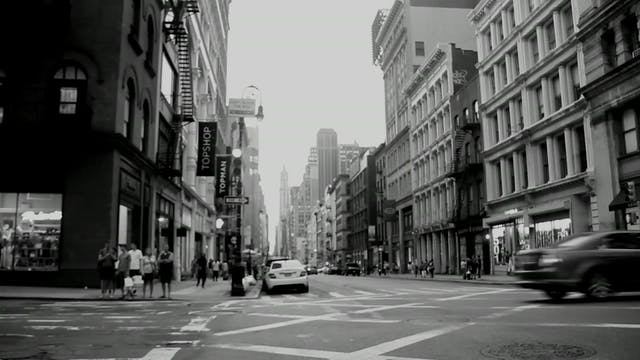 Black And White Video Of Busy Street