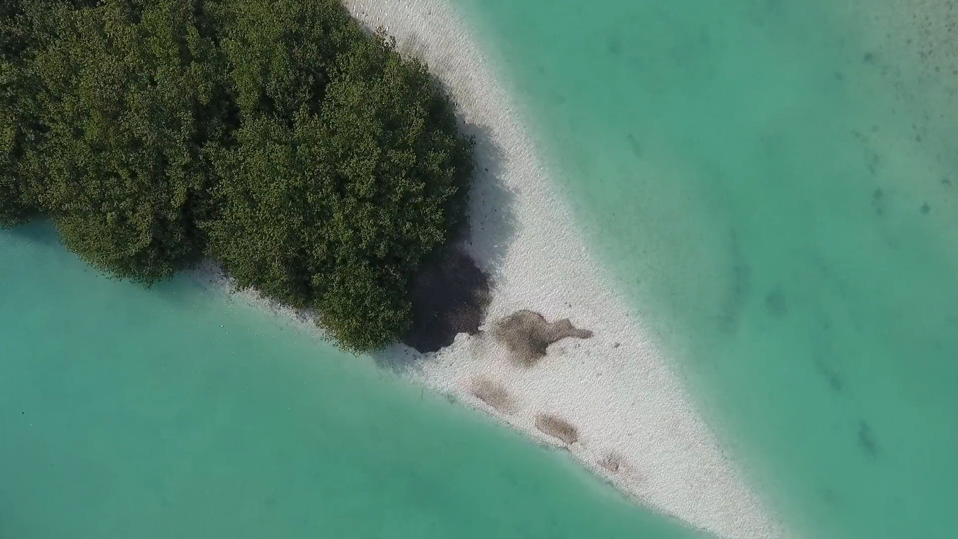 High Angle Shot Of An Island