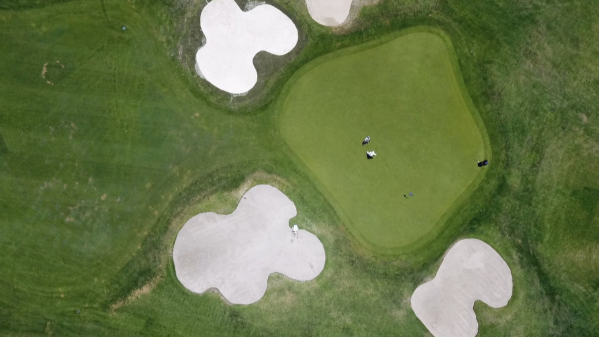 From Above Video Of Golf Course