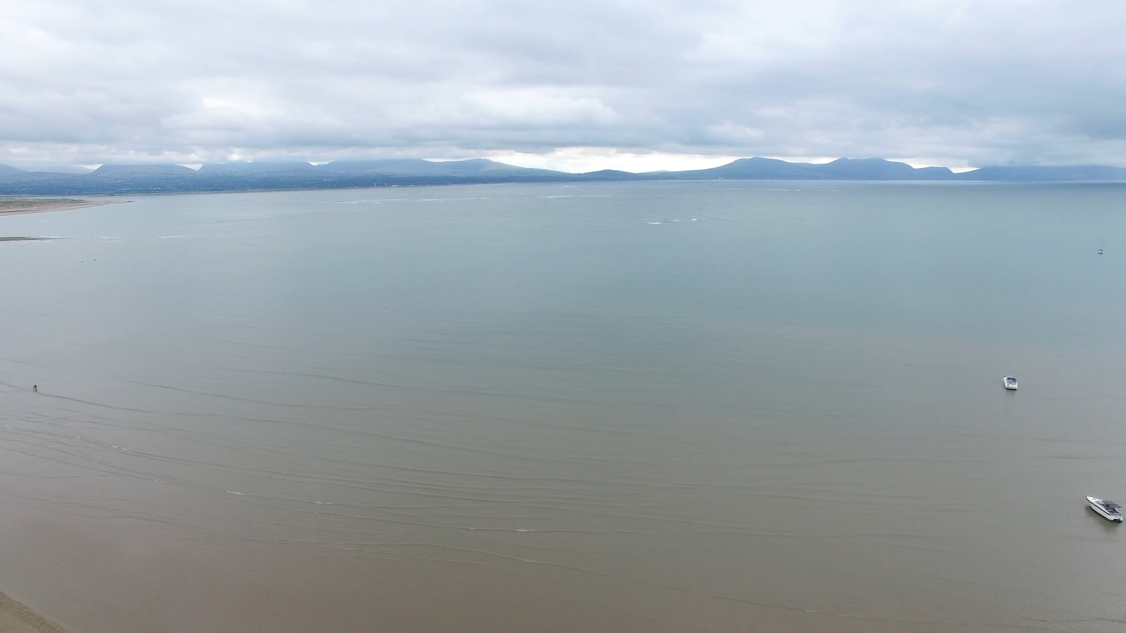 4K Footage of a Sea on a Cloudy Day