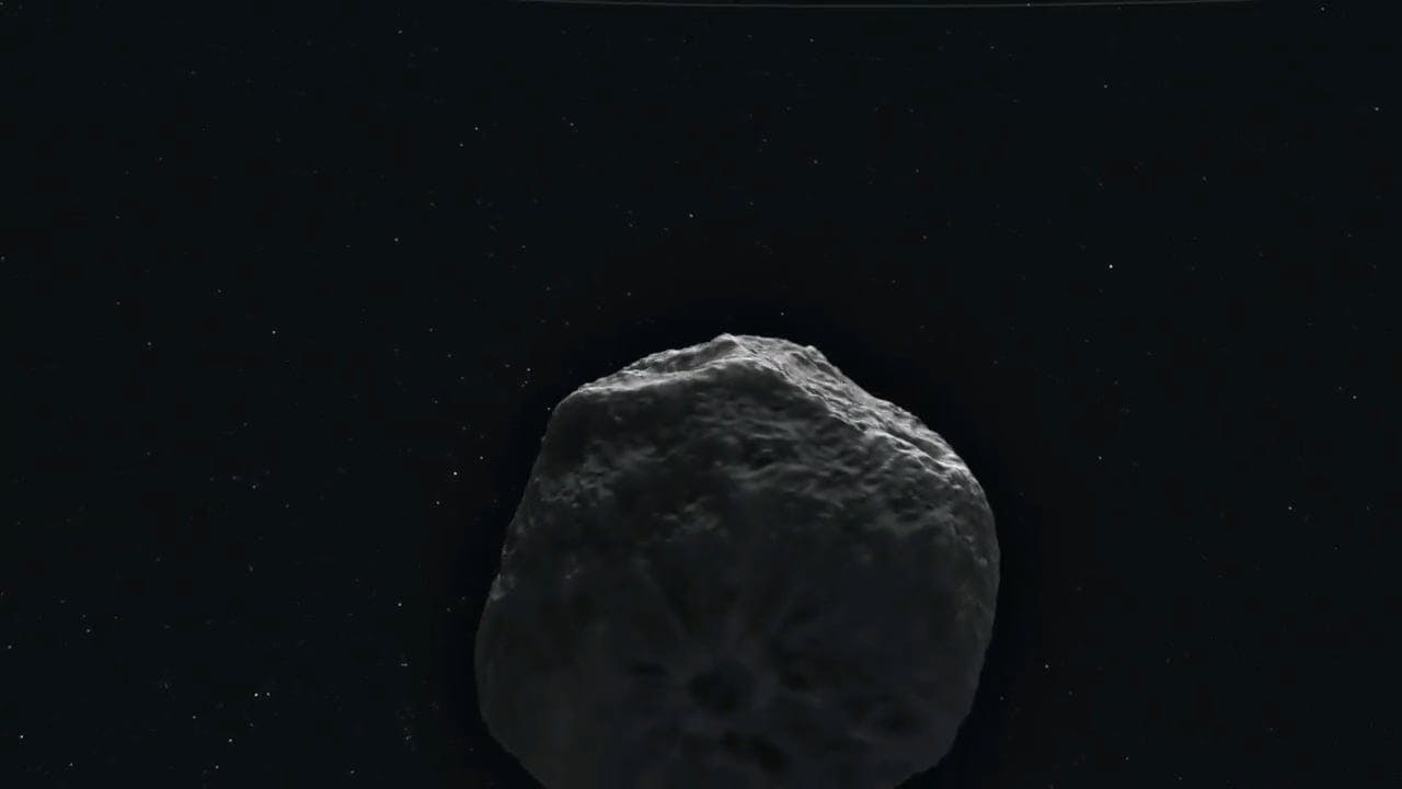 CG Animation of a Revolving Asteroid