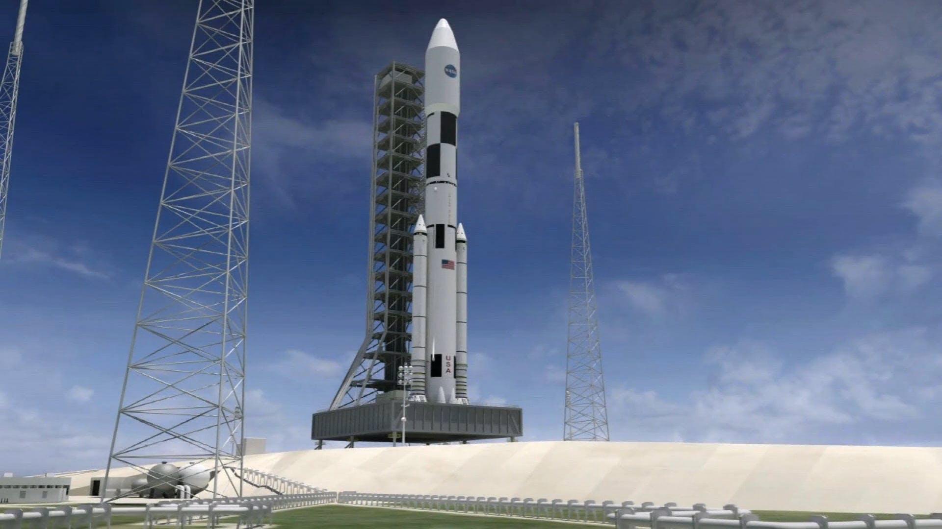 CG Animation Of Rocket Launching