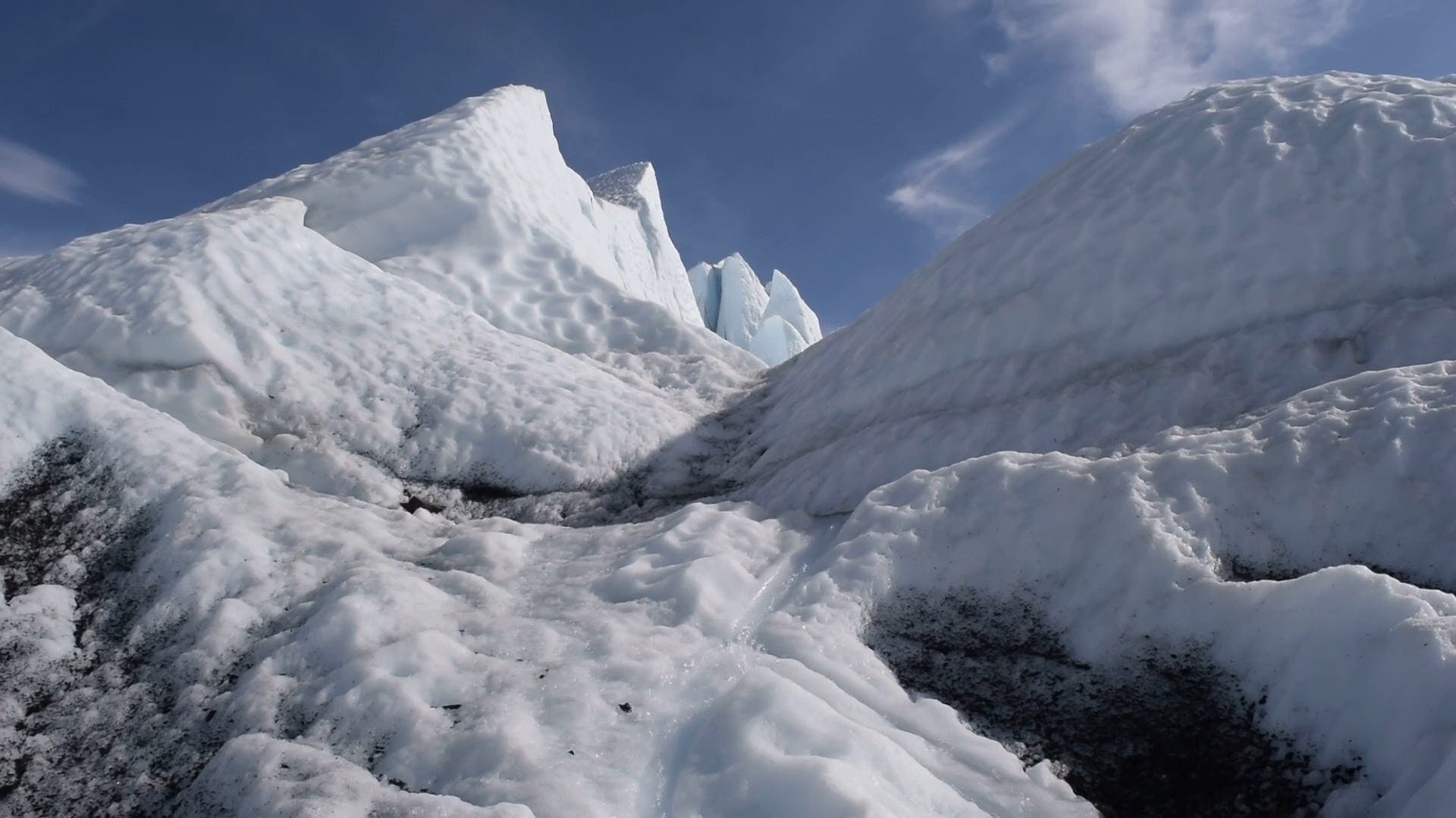 Video Footage of Icy Mountain