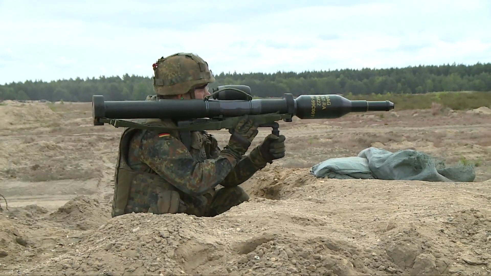 Soldiers Doing Live Ammunition Training