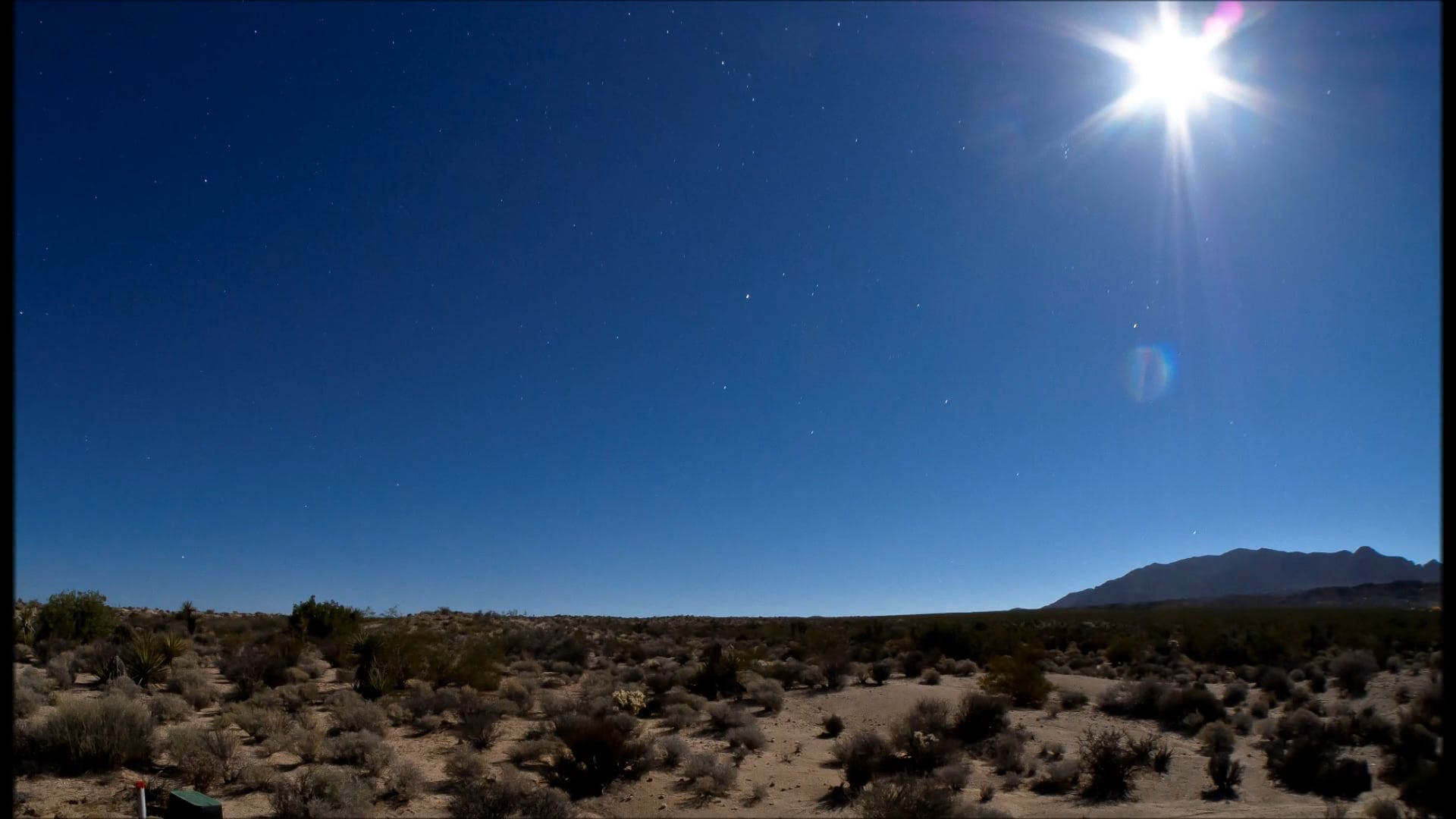 Time Lapse Video Of Sky At Desert