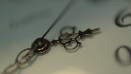 Close-Up Video Of Clock Hands