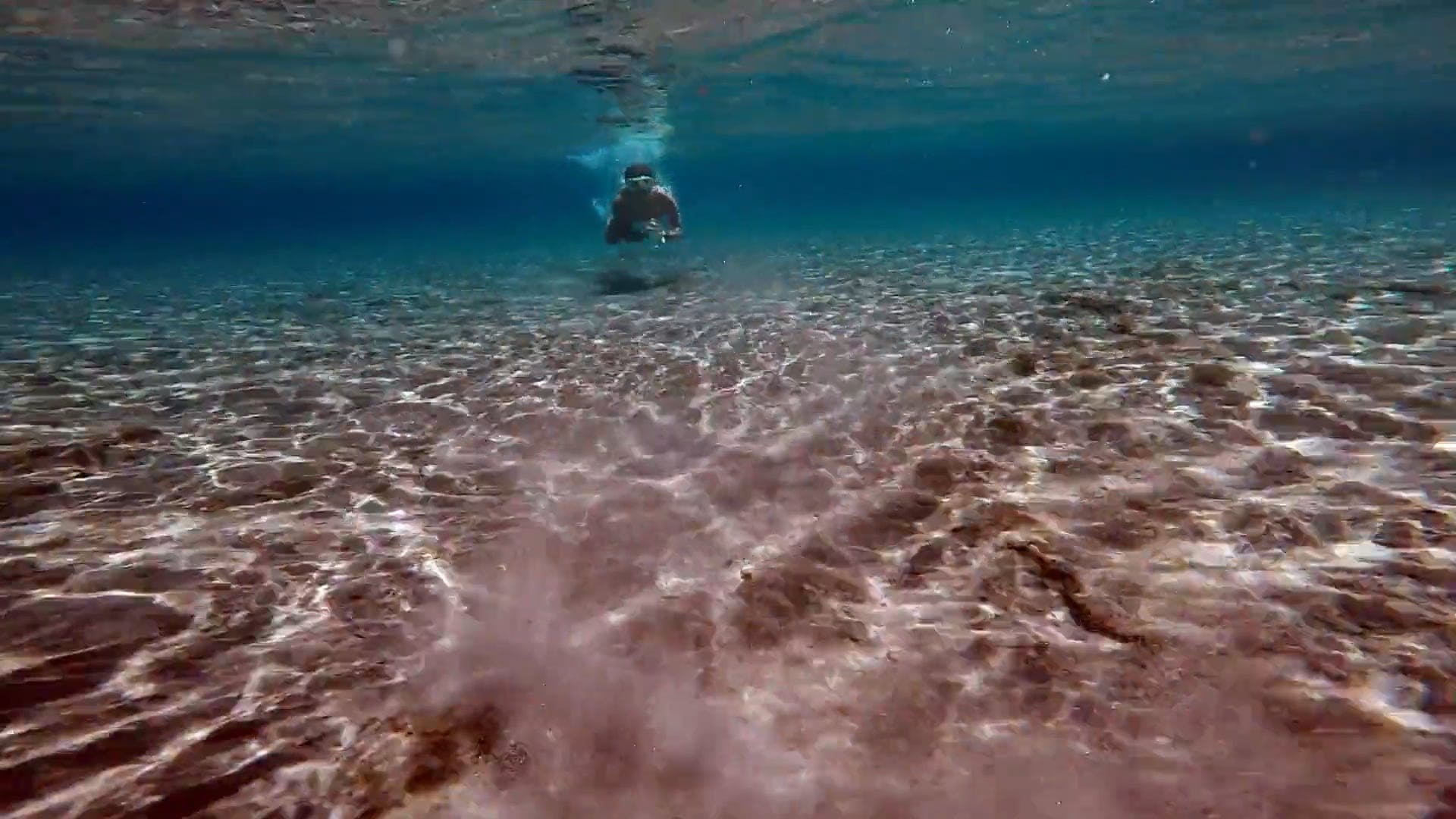 Video Of Person Swimming Underwater
