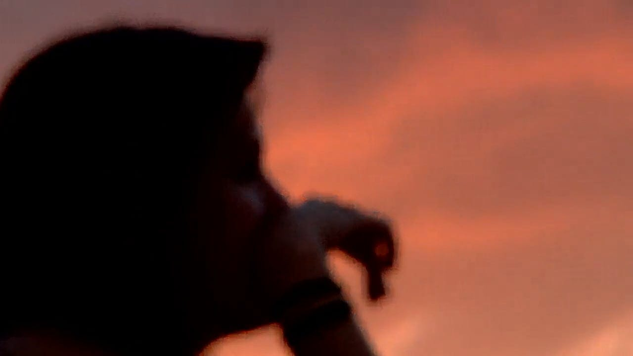 Silhouette Of A Girl Spinning