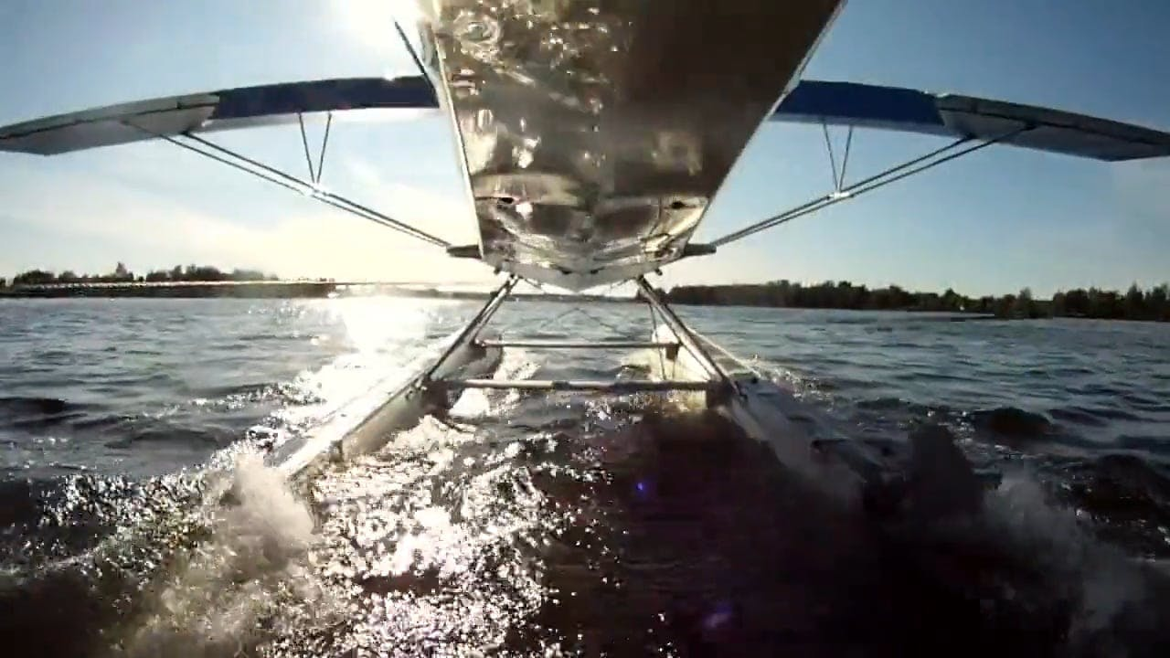 Seaplane Taking Off On Water