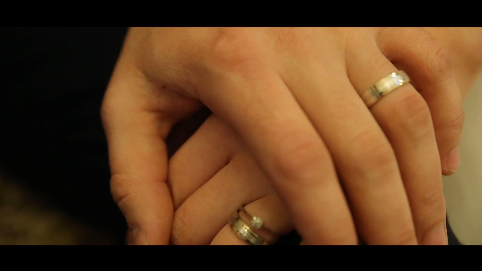 Close-Up Video Of Hands With Rings