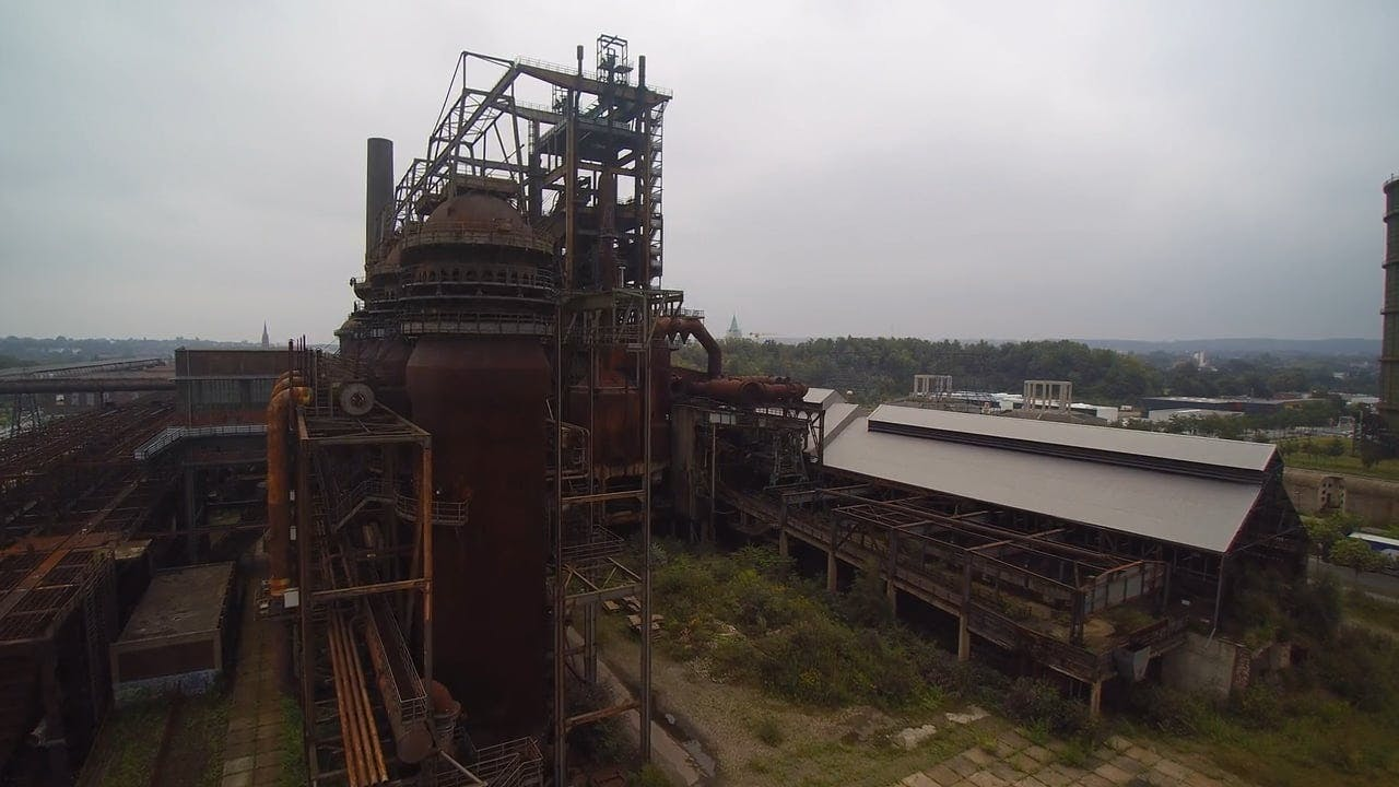 Aerial Shot of an Abandoned Factory
