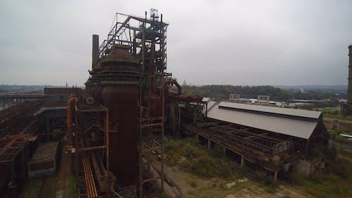 Luftaufnahme Einer Verlassenen Fabrik