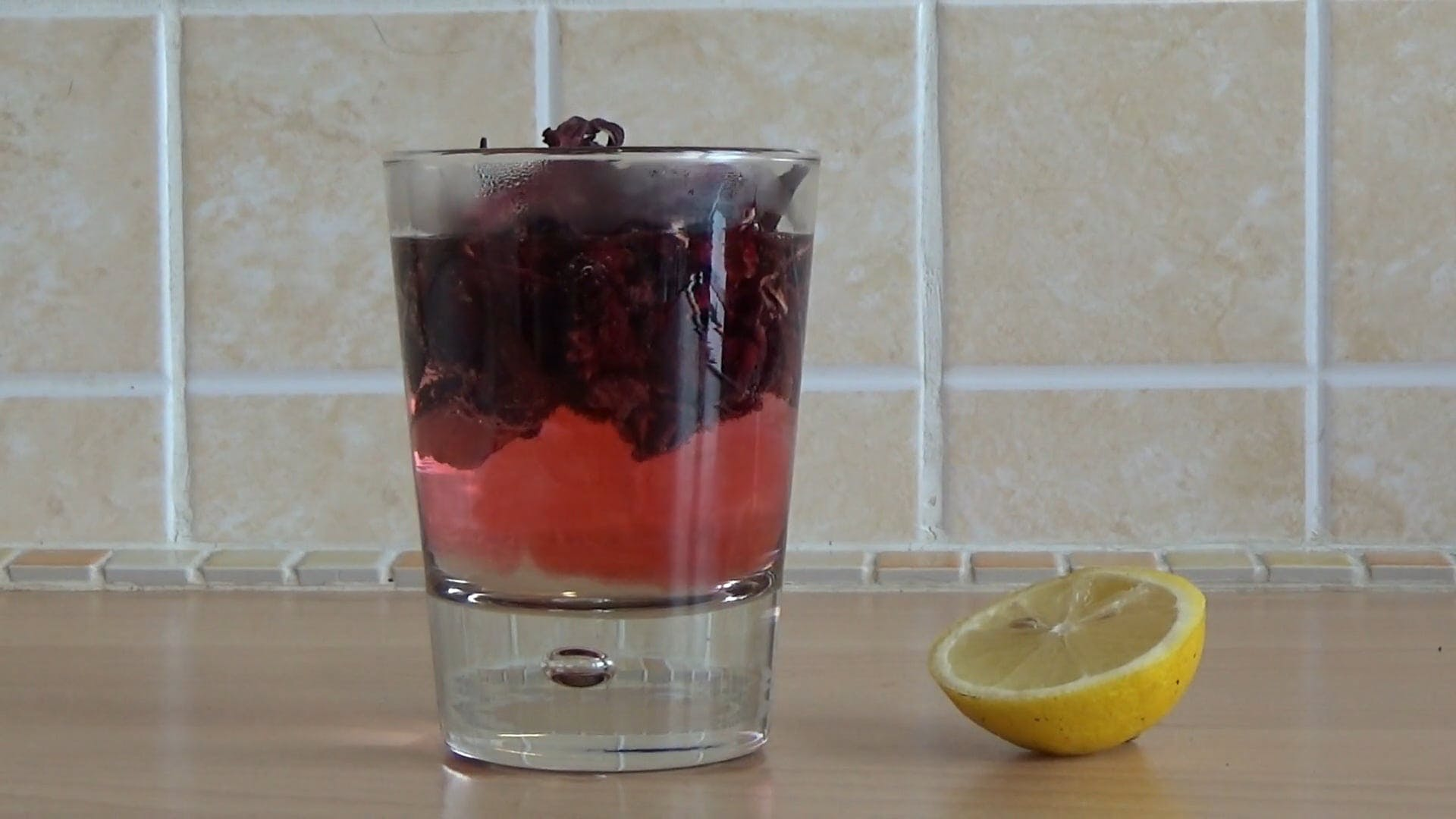 Hibiscus Tea And Lemon Slice