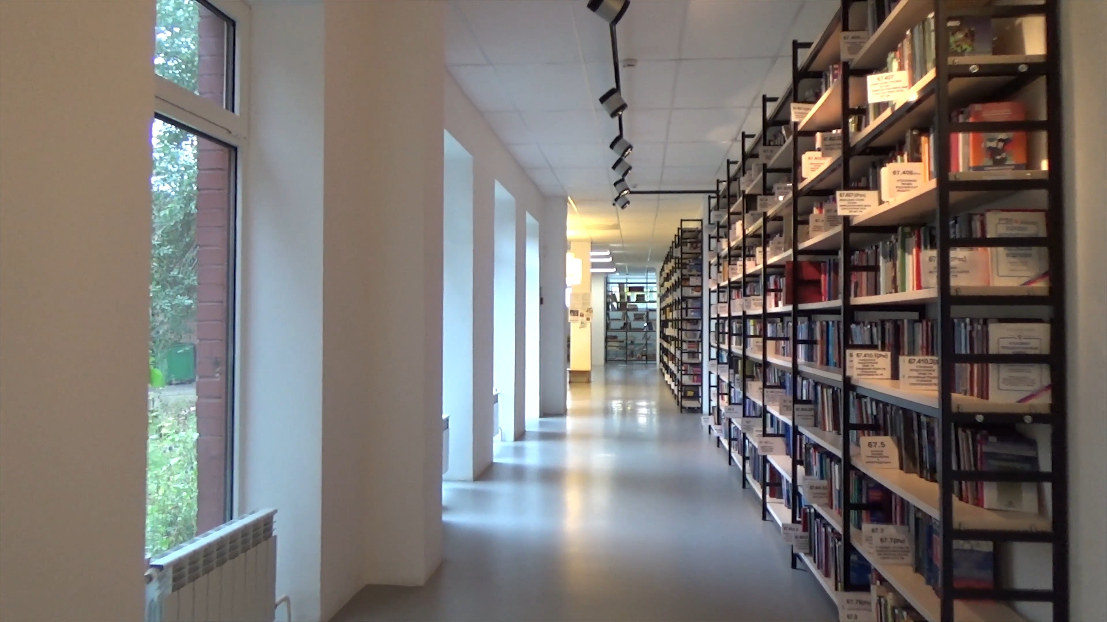 Video Inside A Library