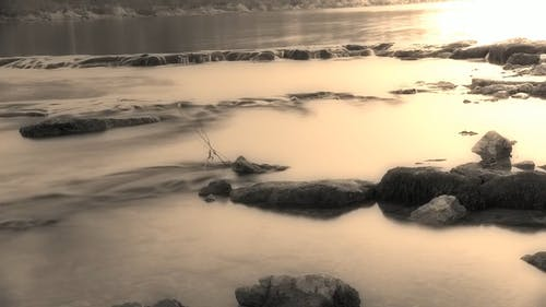 Time Lapse Video Of Black And White River