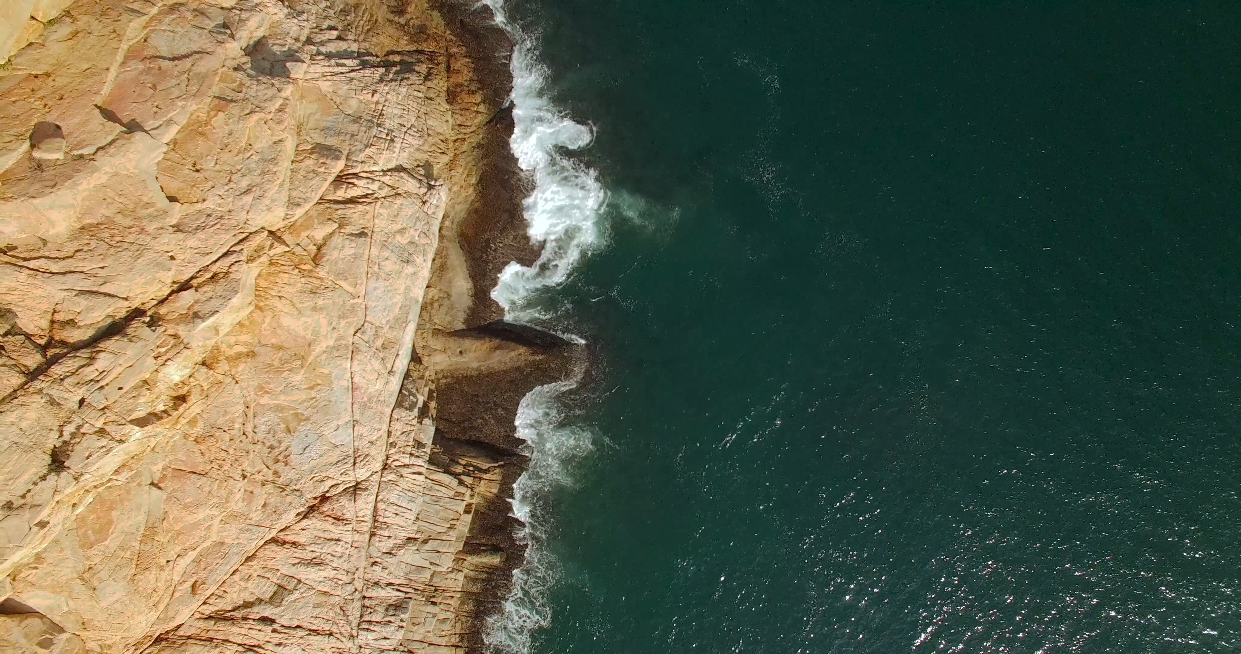 Aerial View of a Cliff