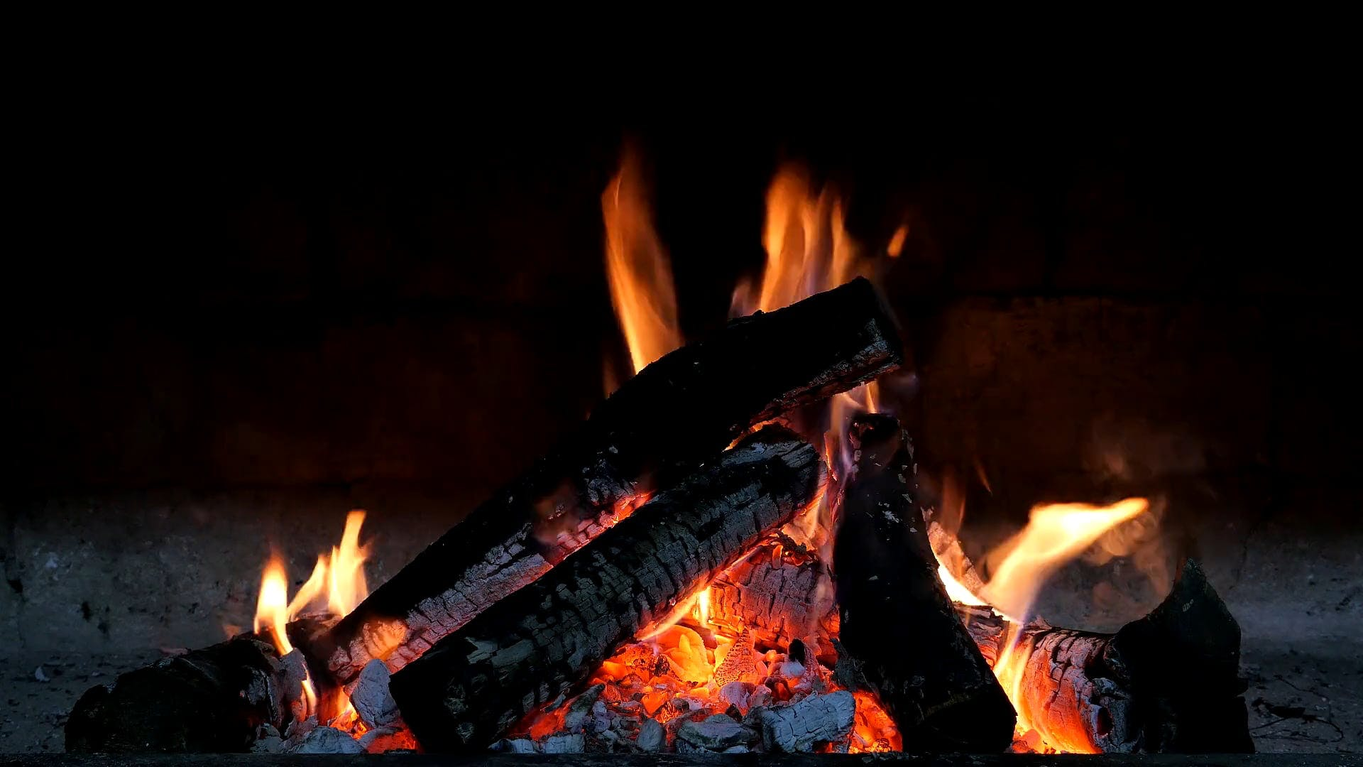 Burning Charcoal Fire