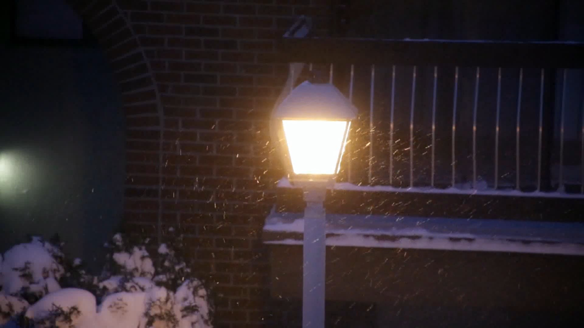 Street Lamp during a Snowfall