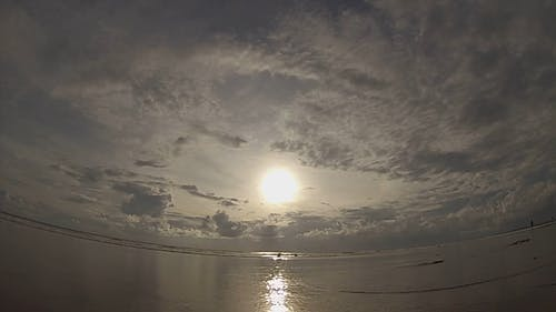 Wide Angle Video Of Beach Sunset