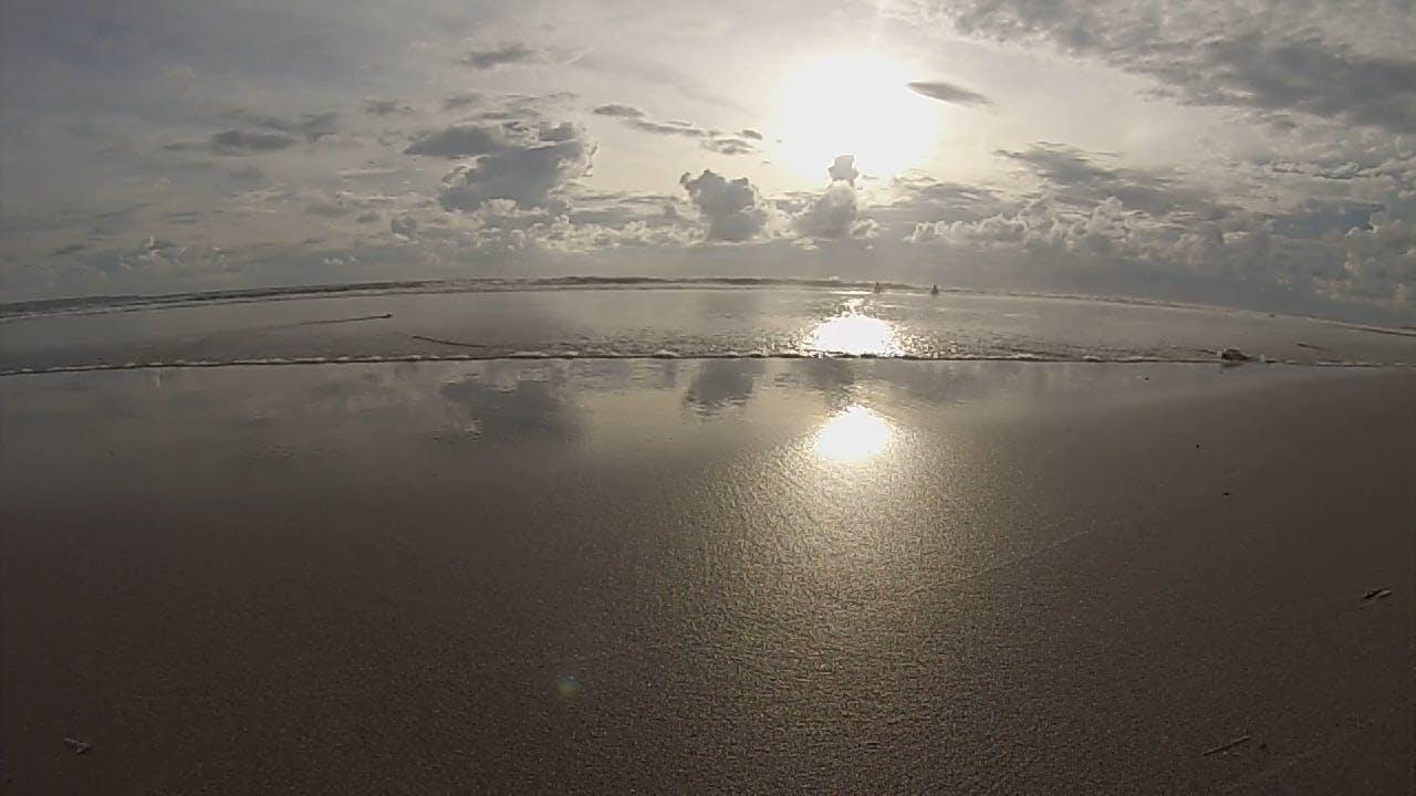 Sun Reflecting On The Beach