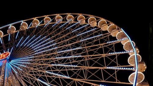 Colorful Ferris Wheel in Motion