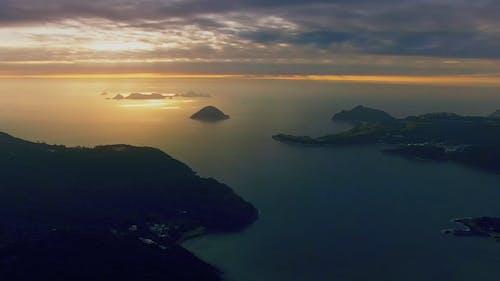 Aerial Video Of A Foggy Island